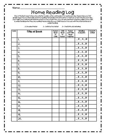 4th grade reading log template blank reading log new calendar template site