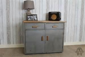 Metal Cabinet Vintage Vintage Industrial Brushed Metal Cabinet Vintage