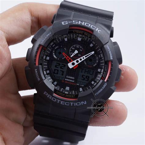 G Shock Ga 100 Merah harga sarap jam tangan g shock ga100 1a4 black