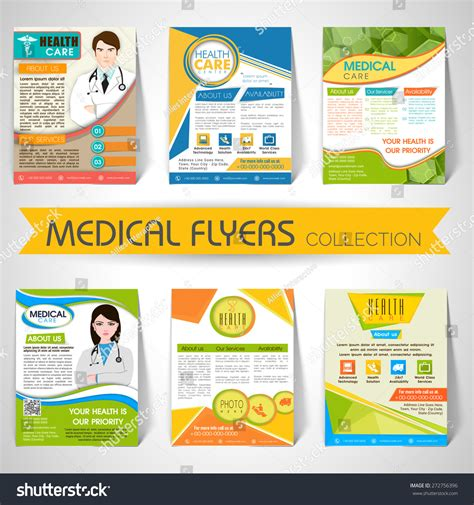 Collection Stylish Flyers Templates Banners Medical Stock Vector 272756396 Shutterstock Wellness Template