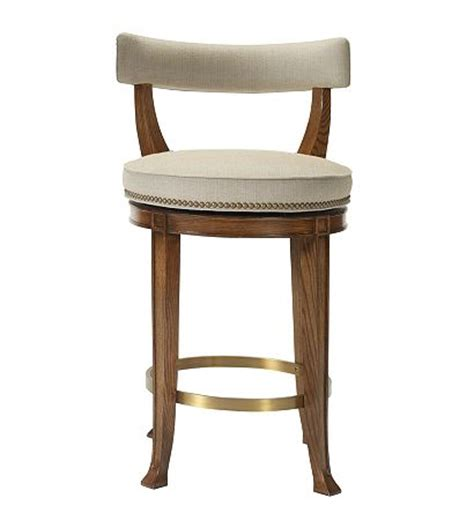 Curved Back Counter Stool by Newbury Swivel Curved Back Counter Stool From The 1911
