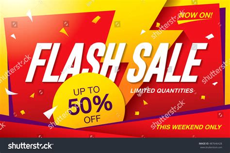 templates banners flash flash sale banner template design stock vector 487646428