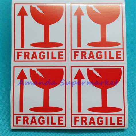 01 Fragile Sticker Label Stiker 300pcs fragile warning label sticker handle with care sticker coated paper ebay