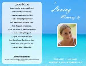 ideas for funeral service cards programs examples