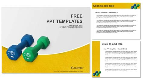 Two Of Dumbbells Powerpoint Templates Singing Bee Powerpoint Template