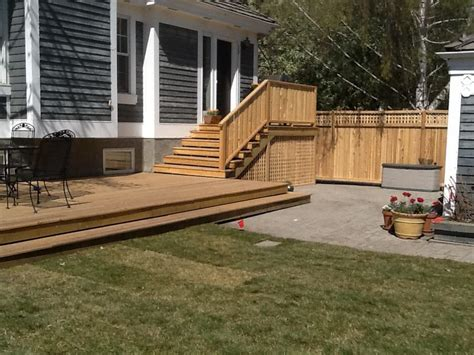 backyard fences and decks decks and fences european garden design