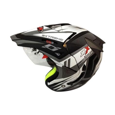 Helm Yamaha Nmax Half Jual Jpx Supermoto Nmax Helm Half Black Doff Silver Harga Kualitas Terjamin