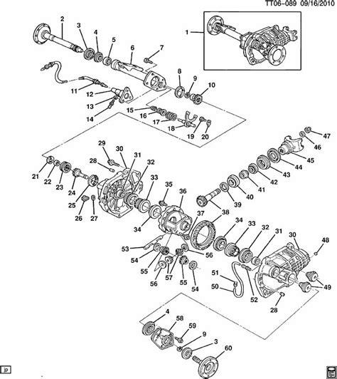 2000 gmc sonoma front differential parts diagram diagram auto wiring diagram differential carrier front axle