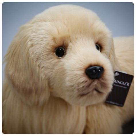 stuffed golden retriever ultra realistic golden retriever stuffed animal plush puppy doll similate 65cm