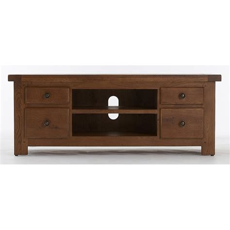 emporium home bretagne rustic oak large tv unit emporium
