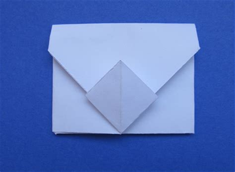 fold an envelope how to fold an origami envelope that closes with a diamond shaped pocket