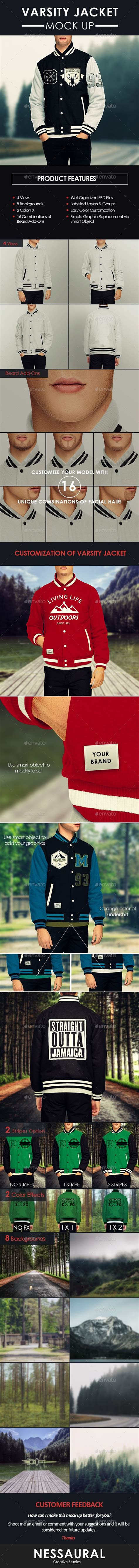 Varsity Jacket Template Psd by Mens Varsity Jacket Mock Up Shirts Psd Templates And