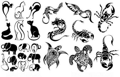 小动物纹身图案 蝎子等动物纹身 eps 动物世界 矢量图 素材免费下载 小新图库