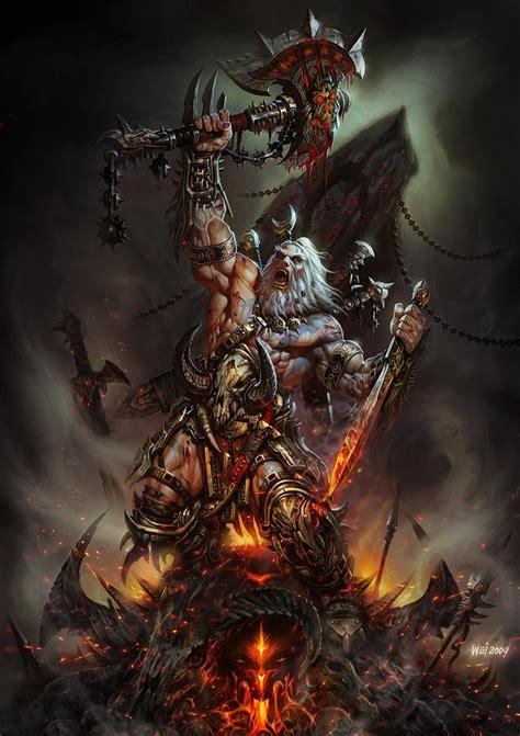 barbarian characters amp art diablo iii