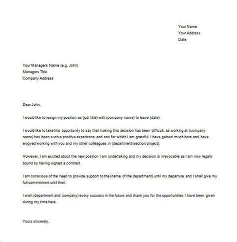 Resignation Letter To Manager Resignation Letter Simple Resignation Letter Format To Manager The Office Manager