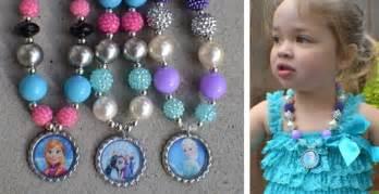 frozen inspired bubblegum necklaces jane