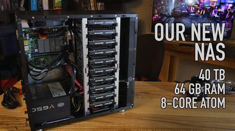 nas computer our new nas 40 tb 64 gb ecc ram ssd caching 10 bay