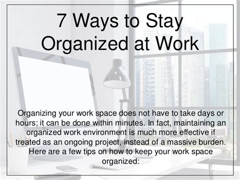 7 Ways To Be To Your by 7 Ways To Stay Organized At Work