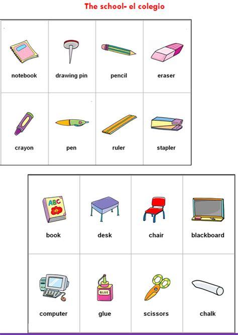 imagenes de utiles escolares en ingles para imprimir objetos escolares em ingl 233 s imagui