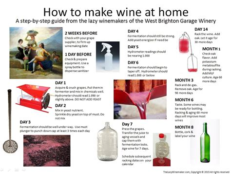 how to make wine at home a step by step guide the lazy
