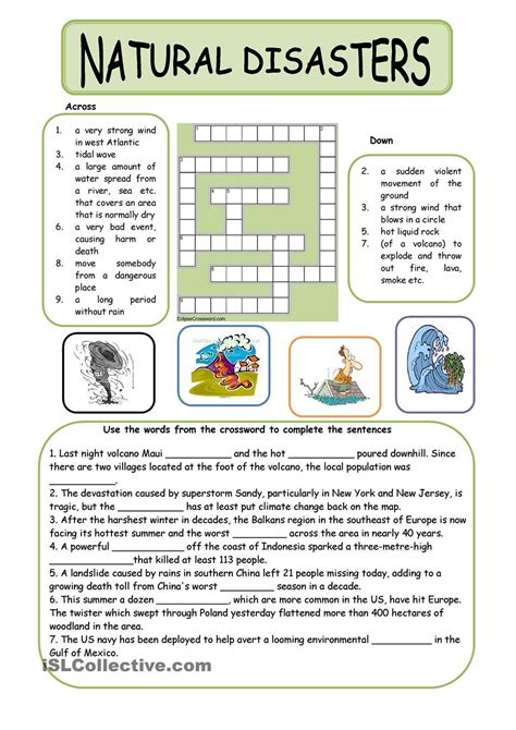 Tsunami Worksheets For Middle School by Disasters Projects To Try