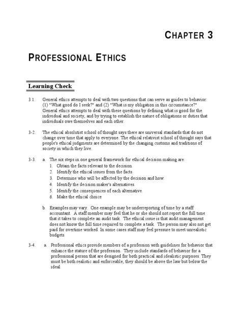 Chapter 3 - PROFESSIONAL ETHICS | Certified Public