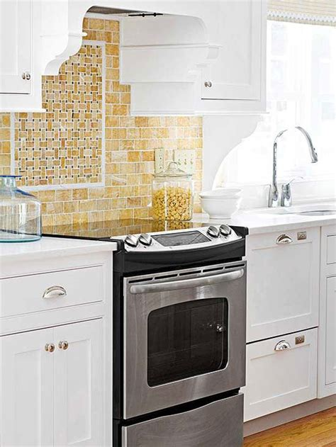 backsplash stove surround for small 370 best images about basketweave tile pattern on marbles porcelain tiles and