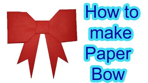 How To Make A Bow With Wrapping Paper - how to make bow with paper origami bow wrapping paper