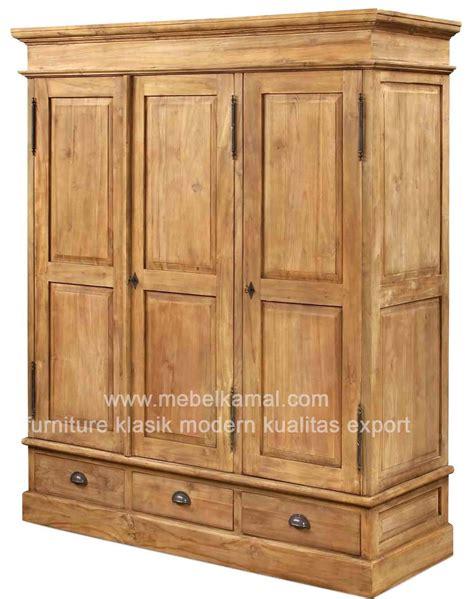 Lemari Pakaian Kayu Jati 3 Pintu lemari pakaian minimalis 3 pintu bahan dari kayu jati