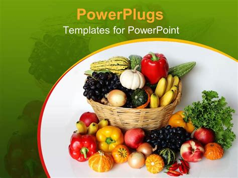 powerpoint templates vegetables powerpoint template a number of vegetables in the basket