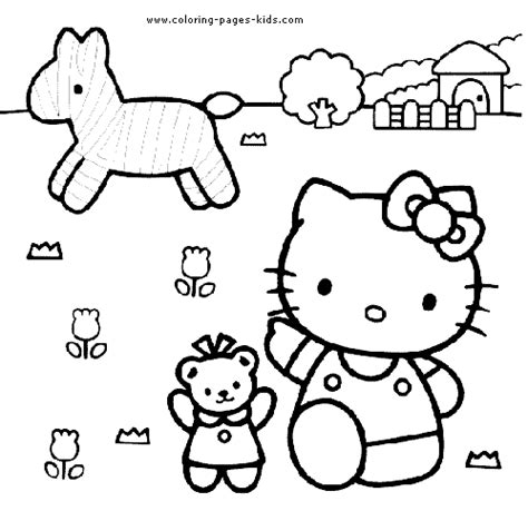hello kitty characters coloring pages hello kitty color page coloring pages for kids cartoon