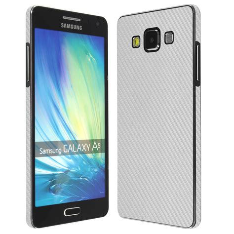 Samsung A5 Silver Skinomi Techskin Samsung Galaxy A5 Silver Carbon Fiber