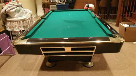 brunswick 8 pool table brunswick billiards black gold crown pro 8 pockets sold