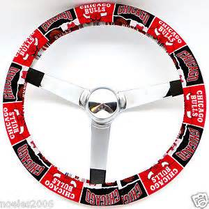 Steering Wheel Covers Nba Handmade Steering Wheel Cover Nba Chicago Bulls Basketball