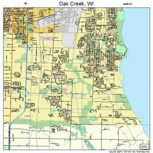 oak creek wisconsin map 5558800