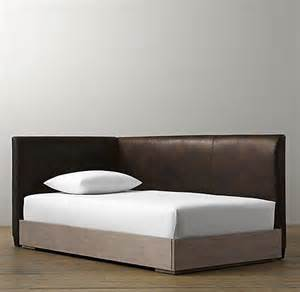 leather corner bed with platform from rh baby
