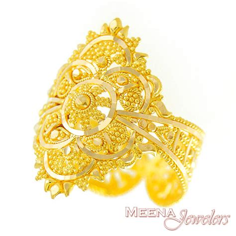 Indian Gold Ringse by Gold Indian Filigree Ring Rilg2919 22kt Gold Ring