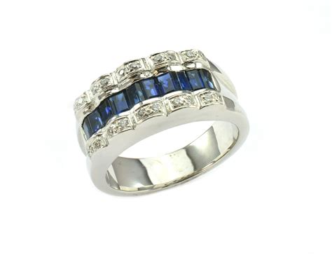 1 899 retail 14k white gold beautiful sapphire and