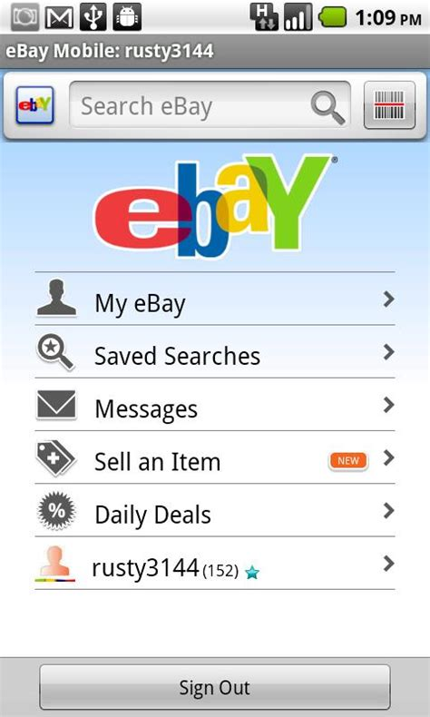 ebay android app ebay app gets updated you can now sell items from your phone talkandroid