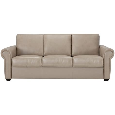 Vinyl Leather Sofa City Furniture Lincoln Taupe Leather Vinyl Sofa