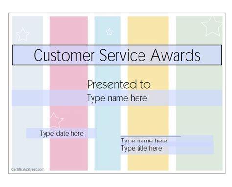 50 Amazing Award Certificate Templates Template Lab Customer Service Award Template
