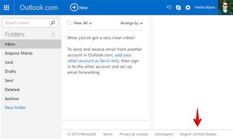 Como Colocar Layout No Email | como colocar hotmail ou outlook em portugu 234 s dicas e