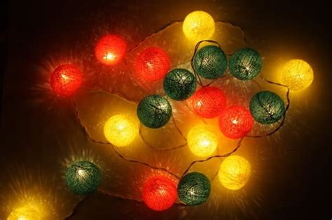 rasta home decor rasta cotton string patio decoration lights