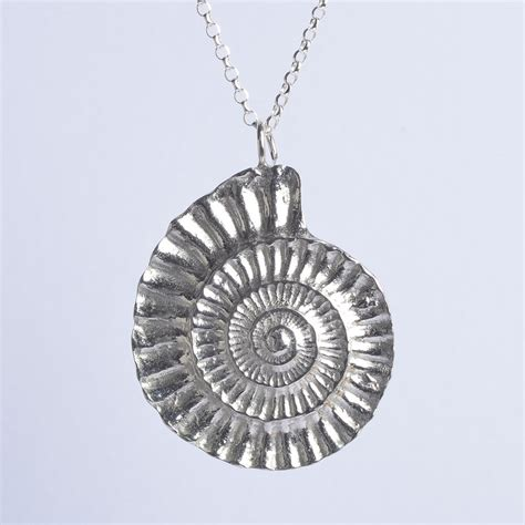 Fossil Silver Chain fossil ammonite necklace fossil jewellery uk made gifts