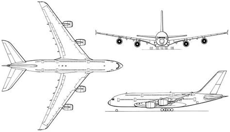 free coloring pages of how to draw a airbus a380