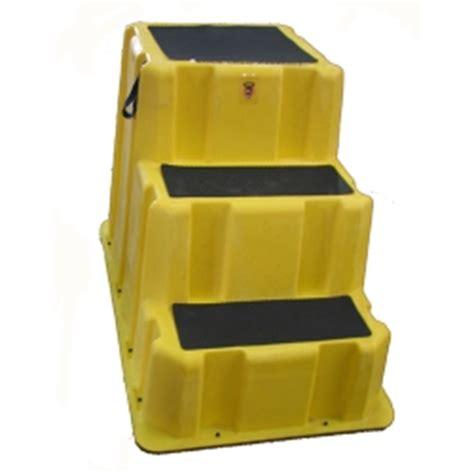 Plastic 3 Step Stool 3 step yellow nestable step stool 26 quot w x 43 quot d u s