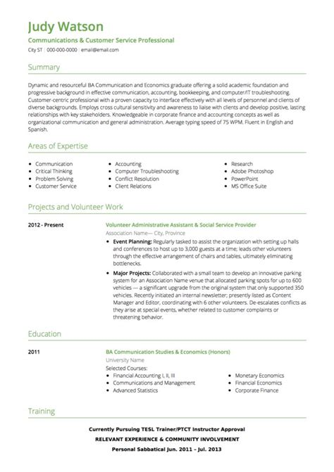 Customer Service Resume by Customer Service Cv Exles And Template