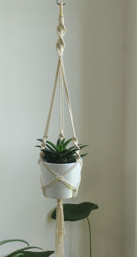 Plant Wall Hangers Indoor by Hanging Planter Macrame Rope Plant Holder Macrame