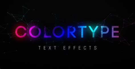 Colortype Text Effects After Effects Template Videohive 16697060 After Effects Project Files Text Message After Effects Template