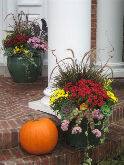 Fall Planter Ideas dressing your fall planters dressed to a t